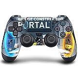 PS4 DualShock Manette sans Fil Pro Console - Manette PlayStation4 avec Grip Doux et Skin Version personnalisée Exclusive (PS4-Bridge Constructor Portal)