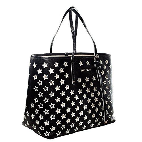SASHAMBLACKWHITE Jimmy Choo Sacs de shopping Femme Cuir Noir Noir