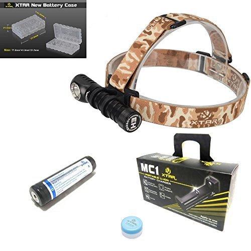 Preisvergleich Produktbild Xtar H3CREE XM-L2U3 LED-Taschenlampe, Taschenlampe + Xtar 18650,geschütztrt 2.600mAh Akku + Xtar MC1Li-Ion-Akku-Ladegerät + Silikon-Fett