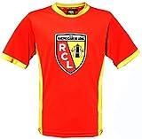 Maillot Racing Club de Lens - Collection officielle RCL - Ligue 1 - Taille adulte homme L Sangue e oro - Sangue e oro