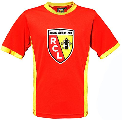 Rc2 Brand Maillot Racing Club de Lens - Collection Officielle RCL - Ligue 1 - Taille Adulte Homme XL Sangue e oro - Sangue e oro