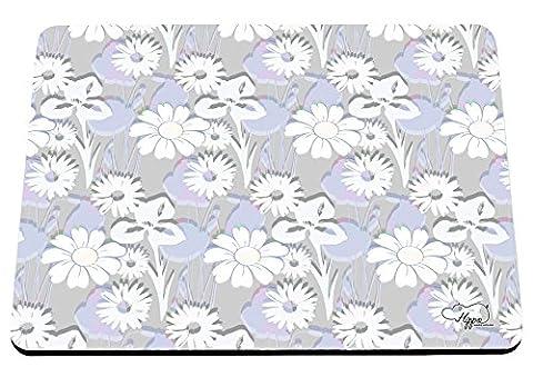 hippowarehouse Traditionelle Daisy Blumen bedruckt Mauspad Zubehör Schwarz Gummi Boden 240mm x 190mm x 60mm, violett, Einheitsgröße