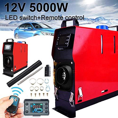 Calefactor de automóvil 12V 5000W, Calefactor de Aire Agujero único de la máquina Diesel Todo en Uno, Calentador de estacionamiento del Calefactor Monitor LCD, para Camiones de autobuses