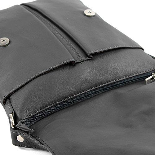 modamoda de ital. Borsa a tracolla Messenger signore borsa grande in pelle T75 Anthrazit Comprar Compra Barata Para Pre Salida bw6GVYfm4x