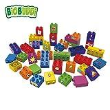 BiOBUDDi BB-0011 Bausteine 40-Teile Set; biologische Bausteine Zum Stecken Kompatibel zu Anderen Marken; Hergestellt aus Bio-Kunststoff; Besonders Umweltfreundlich; ab 1,5 Jahren