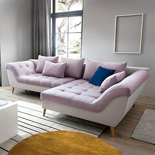 Moebella Ecksofa mit Schlaffunktion und Bettkasten Alea Designer Schlafcouch Sofa Bettfunktion (Standard)