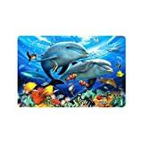 Dolphins Doormat Delfine Fußmatte ENTRANCE Mat Fußmatte/Front Tür/Bad-Teppich Matten Gummi rutschfeste Größe 59,9x 39,9cm