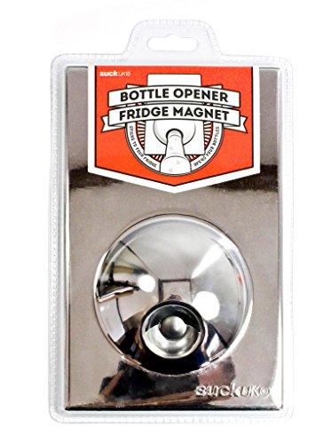 STAINLESS STEEL BOTTLE OPENER FRIDGE MAGNET SUCK UK SK BOFM01 SS -...