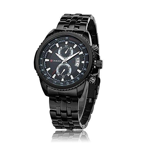 wishar Wasserdicht einfach Business Herren Armbanduhr Wasserdicht Geschenk Uhren, Fashion Trend Quarz Leder Uhren -