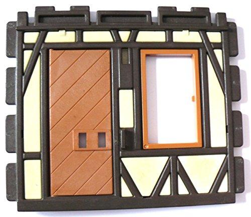 playmobil ® - Burg Ritterburg Fachwerkhaus - Wand mit Fenster und Tür