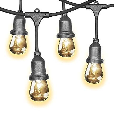 Feit 48ft (14.6m) Indoor/Outdoor Weatherproof String Lights Set + 36 Bulbs