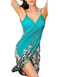 Farbenfrohes Strandkleid Sarong Wickelkleid Beach Cover Umhang Größe XS-M