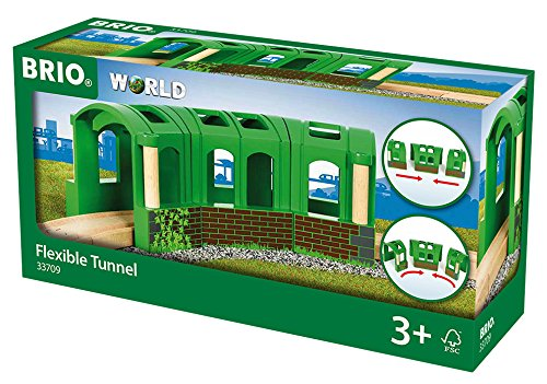 BRIO World 33709 - Flexibler Tunnel, bunt