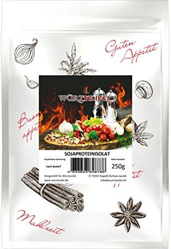 Soja - Eiweiß, natives Soja - Isolat, Sojaprotein 92%, Höchste Wertigkeit. Beutel: 250g.