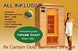 Ivar de 2Topline grandes 2personas sauna infrarrojos y cabina de infrarrojos/1650W/calor infrarrojo cabina y muchos extras.