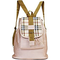 Typify Casual Purse Fashion School Leather Backpack Shoulder Bag Mini Backpack for Women & Girls (Cream)