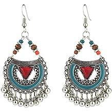 74ca10908615 Gysad Estilo hippie Pendientes de mujer Aleación Pendientes borla Diseño de  arte Pendientes