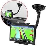 MONTOLA Universal Navi GPS KFZ Halterung kompatibel mit Tomtom Garmin und Tablets - KFZ-Halterung mit Kugelgelenk und Schwanenhals, passend für jedes Auto