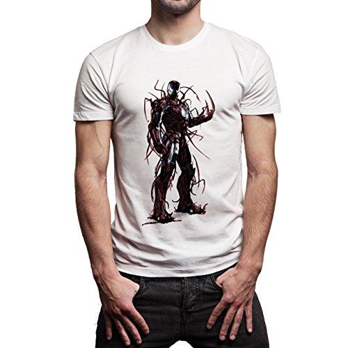 Iron Man Avengers Corrupted Herren T-Shirt Weiß