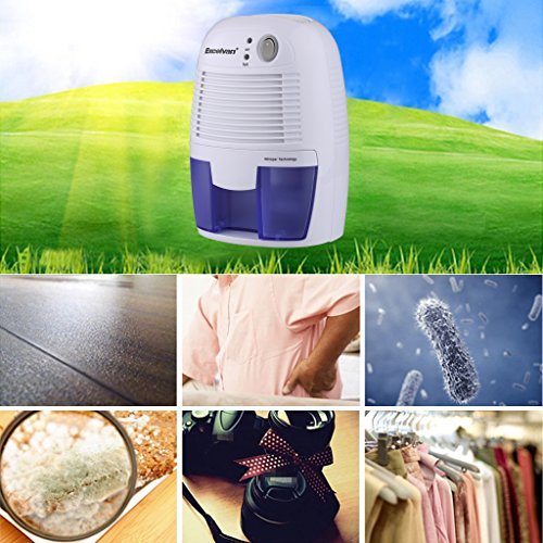 Mini Luftentfeuchter Raumentfeuchter Entfeuchter Luftentfeuchtungsgeräte Feuchtigkeitsabsorber mit 500ml Wassertank Tragbarer Lufttrockner gegen Feuchtigkeit Schmutz und Schimmel zu Hause im Schlafzimmer Büro Küche -