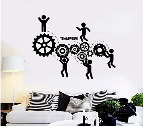 Lsfhb Teamwork Wall Deals Für Büro Raum Motivation Worker Wandaufkleber Kunstwand Gym Wand-Dekor 42X45 Cm