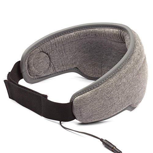 Schlafmaske mit integriertem Kopfhörer 3,5mm Klinke relaxen Flug Bahn reisen