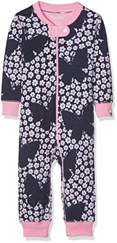 Hatley Hatley Baby-Mädchen Schlafstrampler 100% Organic Cotton Sleepsuits Blau (Butterflies & Buds 400), 3-6 Monate