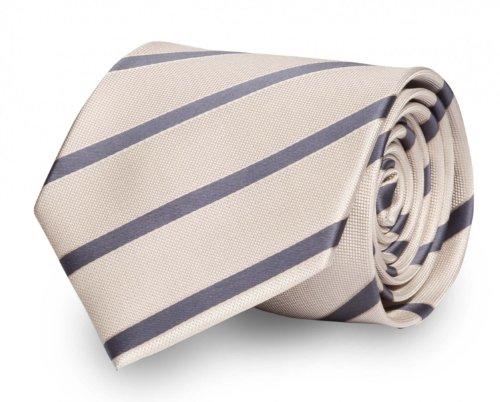 Fabio Farini Krawatte 8 cm klassiche Breite verschiedene Farben, Verschiedene Krawatten 8cm:beige grau gestreift;Verpackung für die Krawatte:ohne Geschenkverpackung
