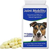 The Dog Company Joint Mobility. Dog Joint Supplement Tablets for Pain Relief and Arthritis. Repairs & Protects Joints. with Glucosamine, Chondroitin, MSM, Turmeric & Boswellia. 120 Tablets