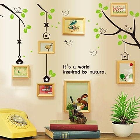 Romantico moda portfolio creative living room bedroom Wall stickers uccello mondo parete mobile Stickers Figurine cintura