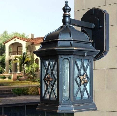 Gelay E27 Außenleuchte Europäische Tradition Wasserdichte Außenlaterne Glaswandleuchte Retro Industriegang Wohnzimmer Schlafzimmer Nachttischlampe Balkon Korridor Gartenlampe Außenwandleuchte Licht -