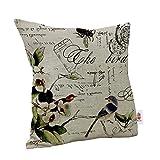 Nunubee Startseite Dekorative Schmetterling Sofa Kissenbezug Dekokissen Bezug Kopfkissenhülle (Art D)