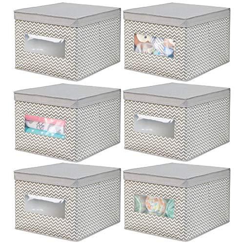 MDesign Juego 6 cajas tela cambiador - Cajas tapa