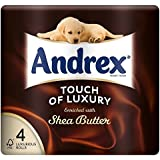 Andrex Touche De Luxe Enrichi Au Beurre De Karité Toilette Rouleaux De Papier - 160 Feuilles Par Rouleau (4)