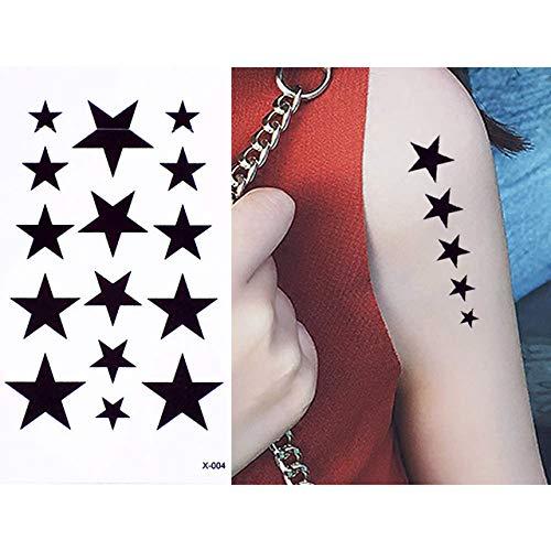 adgkitb 5 stücke Temporäre wasserdichte Körper Hand Hals Ohr Kunst Tattoo Aufkleber Für Party X 004 10,5x6 cm