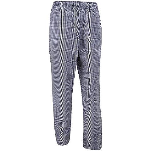 Dennys - Pantaloni Elasticizzati a Quadretti da Chef - Uomo