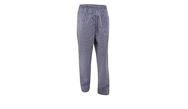 Uomo Dennys Pantaloni Elasticizzati a Quadretti da Chef