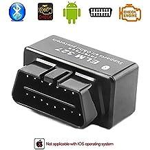Eunavi Mini OBD2 ELM327 V1.5 Bluetooth Car Scanner - Herramienta de Exploración Automática Par Auto Herramienta OBD-II Diagnóstico Diagnóstico del Código Tester