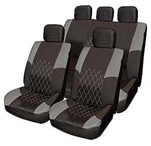 Nissan Cabstar Murano Navara Terrano Gris et ensemble de housses de siège en tissu Noir Split Banquette arrière