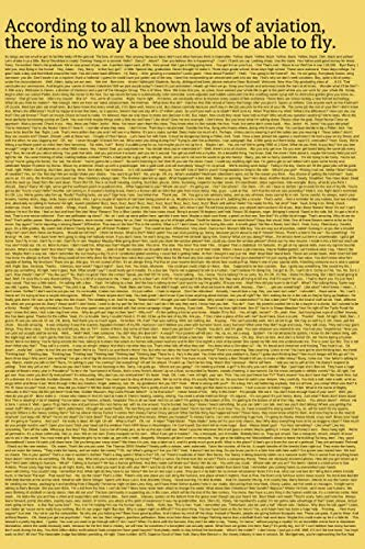 According to all known laws of aviation,  there is no way a bee should be able to fly: The Entire Bee Movie Script On Outside Cover Notebook (Pop Culture, Band 5) (Notebook Nation)