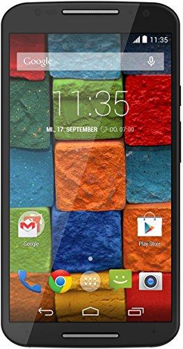 Motorola Moto X (2 Generazione) Smartphone, Display 5,2 pollici Full HD, Fotocamera 13 MP, Processore Quad-Core, Memoria 32GB, Android KitKat 4.4.4, Nero [Germania]