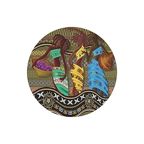 Beautiful African American Woman durable Chiffon Coque ronde Mouse Pad 25x 20cm, un côté