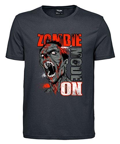 makato Herren T-Shirt Luxury Tee Zombie Mode Dark Grey