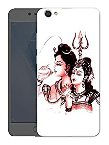 "Humor Gang shiv parvati - hindu god Printed Designer Mobile Back Cover For ""Vivo V5"" (3D, Matte Finish, Premium Quality, Protective Snap On Slim Hard Phone Case, Multi Color)"
