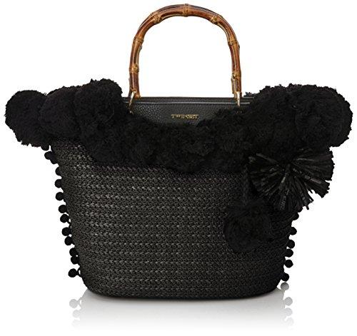 TWIN SET  As7t3n, sac bandoulière femme - noir - Nero (Nero/Nero), 6x17x29 cm (W x H x L) EU