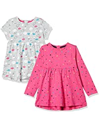 Mothercare Baby Girls' A-Line Pack of 2 Dress (Pack of 2)