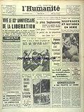 humanite l du 20 08 1964 les b 26 americains au congo le prince souphanouvong repond aux questions de vincent sur le laos tempete sur l atlantique naufrages et noyades en serie palmiro togliatti etat toujours critique les guaranis a la fete de l huma les sports