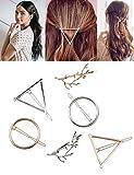Golden Rule Pinces à cheveux Barrettes pour femme en métal épingles à cheveux Filles Accessoires Cheveux Colliers de serrage (6PCS)