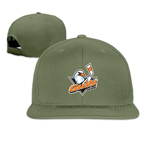 hittings-adult-san-diego-gulls-fantastic-snapback-adjustable-hats-forestgreen