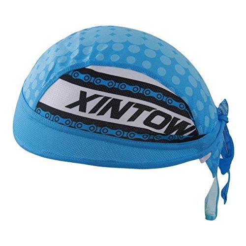 Imagen de ahatech al aire libre senderismo ciclismo pañuelo en la cabeza pirata bandana gorro de uv protector solar estilo azul